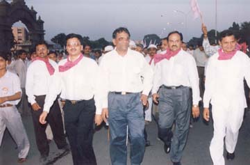 President taking part in padyatra.