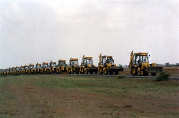 JCB machines provided by SJT .