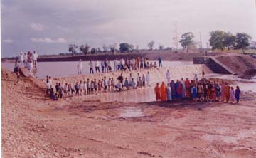 People gathered at Checkdam.